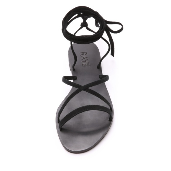 1725db3572fa NWT RAYE Sadie Gladiator Sandals in Black Suede